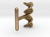 DNA helix cufflink 3d printed
