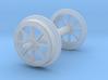 Old-timer gondola wheelset HO-OO scale  3d printed