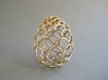 Filigree Egg - 3D Printed in Metal for Easter 3d printed Easter Egg in beautiful polished bronze