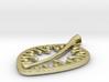 leaf pendant 3d printed