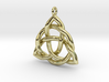 Triquetra Pendant or Trinity Knot Pendant 3d printed