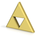 Triforce 3d printed Golden colored Render, does not match a material.