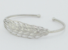 Wheat Bracelet all sizes 3d printed rhodium plate