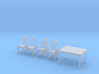 1:48 Queen Anne Dining Set 3d printed