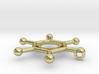 Hexachlorobenzene Chemistry Molecule Pendant 3d printed