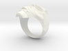 Skull Ring size 14 3d printed