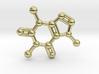 Caffeine Molecule Necklace / Keychain 3d printed