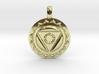 VISHUDDHA Throat Chakra Symbol Pendant  3d printed
