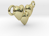 Love Three Hearts (Big Size Pendant) 3d printed