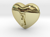 Leather Zipped Heart Pendant 3d printed