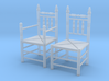 1:48 Pilgrim's Chairs, Set of 2 3d printed