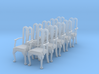 1:48 Queen Anne Chair with Arms (Set of 10) 3d printed