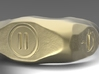 """UK m size """"Pause"""" ring, first edition. 3d printed front view"""