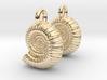 Ammonite Earings (pair) 3d printed