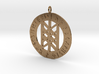 Rune Pendant - Web of the Wyrd 3d printed
