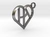 Heart of love keychain [customizable] 3d printed