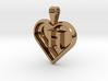 Secret heart pendant [customizable] 3d printed