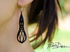 Handmade Teardrop Earrings / 3D Printed Earrings  3d printed