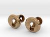 Circle Halo Cufflinks 3d printed