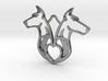 The dobermann crest 3d printed