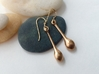 Teardrop Earrings - Bronze Age Earrings for Today 3d printed Welcome to the Bronze Age!