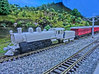 NZ120 Q Class Shell 3d printed Sitting on a N scale Microace 4-6-2 Chassis