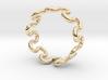 Wave Ring (20mm / 0.78inch inner diameter) 3d printed
