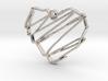Sketch Heart Pendant 3d printed