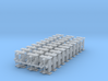 """1/87th Equipment track link set 2. 120 links 24"""" w 3d printed"""