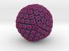 Herpes Simplex Virus capsid, radial colour 1Mx mag 3d printed