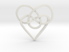 Infinity Heart Knot Pendant 3d printed