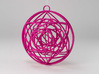 Stained Glass Ornament 3d printed Printed in Hot Pink