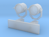 1:72 scale Search Light with Wall Stand 3d printed