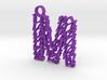 """Sketch """"M"""" Pendant 3d printed"""