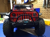 JK Winch Bumper - Gelände 2 3d printed Finished product installed with winch, scale hex hardware, and shackle.
