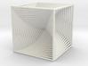 0049 Cube Line Design (10cm) #002 3d printed