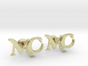 Monogram Cufflinks MC 3d printed