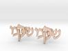 "Hebrew Monogram Cufflinks - ""Shin Mem Kuf"" 3d printed"