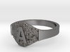 Textural Initial A Ring Size 11 3d printed