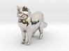 Ragdoll Kitty Toy Charm by Cindi (Copyright 2015) 3d printed Rhodium Plated