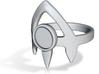 """The """"Priestess"""" midi ring (Metal) 3d printed"""