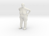 Fat Lady with bobbed hair 1/29 scale 3d printed