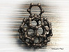 Bucky ball necklace 3r 3d printed photo of the product in stainless steel necklace