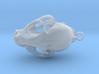 Bobcat Skull Pendant (Horizontal Loop) 3d printed
