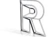 R Typolygon 3d printed