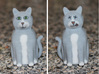 Schrödinger's Cat and Box 3d printed Alive on Front, Dead on the Back