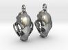 Bobcat Skull Earring Pair (2) - Vertical Loop 3d printed