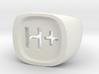"Transhumanist ""H Plus"" Ring 3d printed"