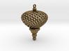 Sphere Swirl Geometric Ornament (thin version) 3d printed