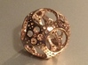 Apollonian Octahedron Mini 3d printed 14K Rose Gold Plated